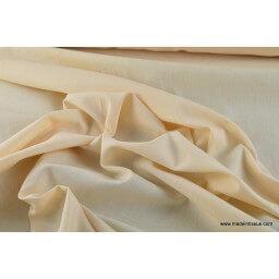 Tissu cretonne coton Oeko tex  ivoire au mètre