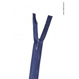Fermeture éclair Fine et légère en nylon - séparable col 570 Bleu marine Z45