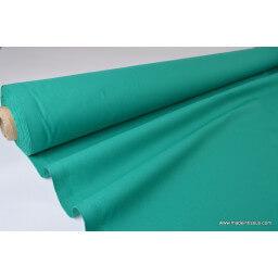 Tissu cretonne coton Oeko tex  emeraude au mètre