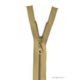 Fermeture éclair en nylon séparable Maille laiton col 945 Beige Moyen - Z19