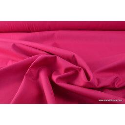 Tissu cretonne coton Oeko tex fuchsia par 50cm