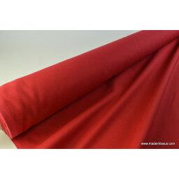 Tissu cretonne coton Oeko tex rouge hermès au mètre