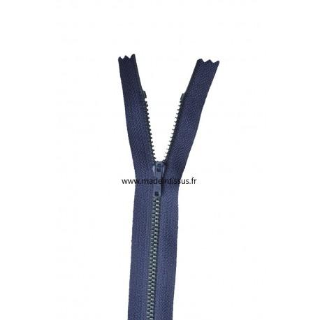 Fermeture éclair Z13 métallique coloris Bleu marine 570