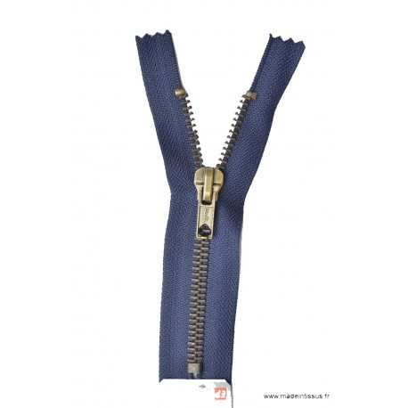 Fermeture éclair Z14 métallique coloris 570 bleu marine