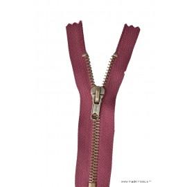 Fermeture éclair Z14 métallique coloris Bordeaux 870