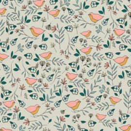 Tissu coton oiseaux et fleurs by Art Gallery Fabrics