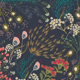 Popeline coton prenium imprimé fleurs et motifs ethniques by Art Gallery Fabrics .x1m