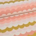 Tissu popeline coton prenium imprimé Vagues Métalliques Rifle Paper by Cotton and Steel .x1m