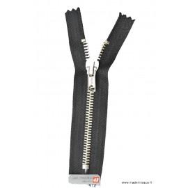 Fermeture éclair en nylon SPECIALE PANTALON MAILLE ARGENT col 460 Noir - Z16