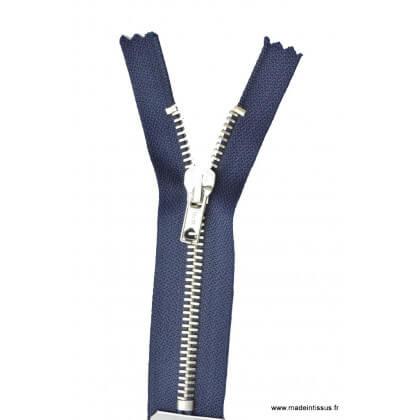 Fermeture éclair en nylon SPECIALE PANTALON MAILLE ARGENT col 570 Bleu marine - Z16