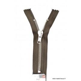 Fermeture éclair en nylon SPECIALE PANTALON MAILLE ARGENT col 990 Brou de Noix - Z16