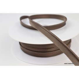 Passepoil satin 10 mm coloris Chocolat1249