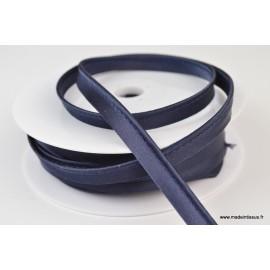 Passepoil satin 10 mm coloris Bleu marine1191