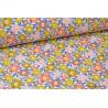 Tissu Cretonne coton imprimé fleurs Camille Litchi