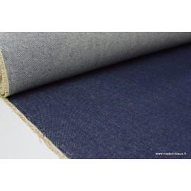 Tissu denim jean bleu