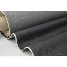 Tissu toile denim lourde jean noir
