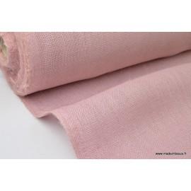 Tissu Toile de Jute Rose