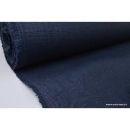 Tissu Toile de Jute Bleu marine