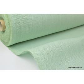 Tissu Toile de Jute Menthe x1m