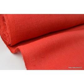 Tissu Toile de Jute Rouge