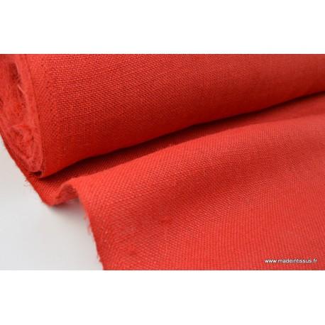 toile de jute coloris rouge il est id al pour la confection de sacs et pour la d coration. Black Bedroom Furniture Sets. Home Design Ideas