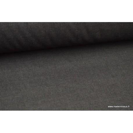 Tissu gabardine polyester viscose enduite étanche anthracite
