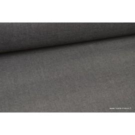 Tissu gabardine polyester viscose enduite étanche gris