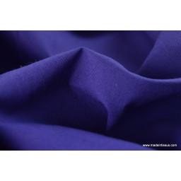 Tissu cretonne coton violet par 50cm