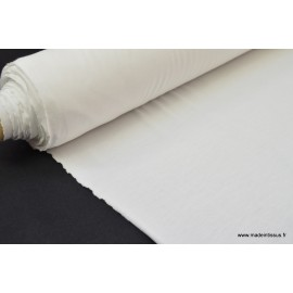 Tissu ultra doux Jersey en viscose Bambou coloris Blanc