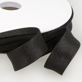 Biais replié 18 mm Lurex coloris Noir