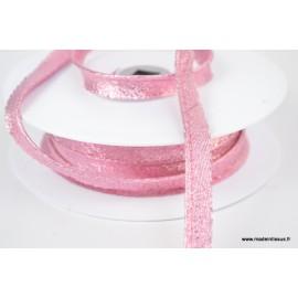 Passepoil Lurex 10mm coloris Rose