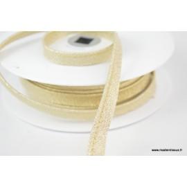 Passepoil Lurex 10mm coloris Or