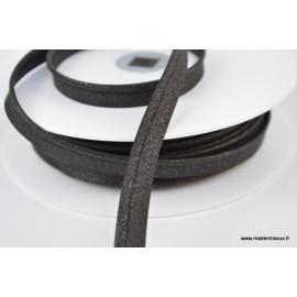 Passepoil Lurex 10mm coloris Noir