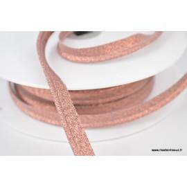 Passepoil Lurex 10mm coloris Cuivre