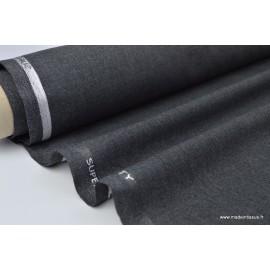 Tissu Toile polyester viscose pantalon gris chiné