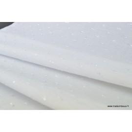 Tissu plumetis Lurex perle x50cm