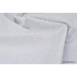 Tissu plumetis Lurex gris .x1m