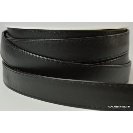 faed1cf21c Sangle simili cuir Coloris noir Largeur 25mm pour toutes vos ...