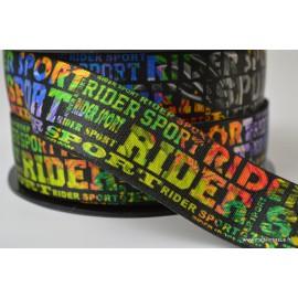 Elastique 35mm imprimé Sport Rider multicouleurs