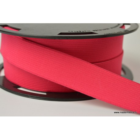 Elastique Souple 25mm coloris Rouge