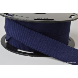 Elastique Souple 25mm coloris Bleu marine