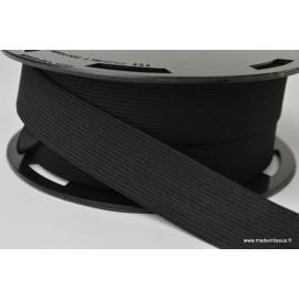 Elastique Souple 25mm coloris Noir