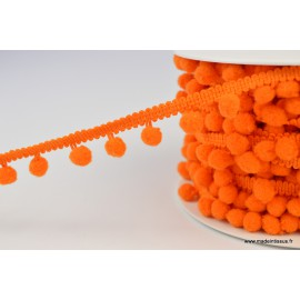 Galon PETITS POMPONS coloris Orange