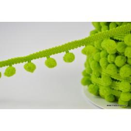 Galon PETITS POMPONS coloris Vert