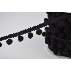 Galon PETITS POMPONS coloris Noir