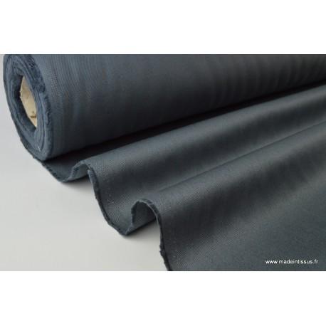 Tissu sergé coton lourd ANTHRACITE  300gr/m²