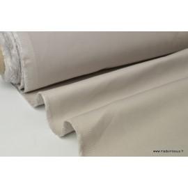 Tissu sergé coton lourd beige 300gr/m²