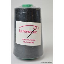 Cône de fil à coudre 100% polyester NOIR - 5000 m