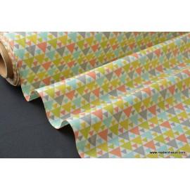 tissu popeline coton imprimé dessin tigaya mixte .x1m