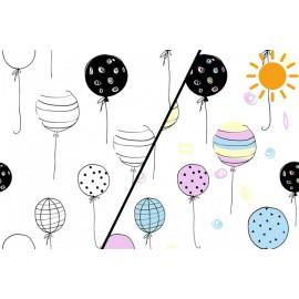 1 coupon de 70 cm de Tissu jersey Photosensible Ballons